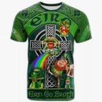 1stIreland Ireland T-Shirt - Edgeworth Crest Tee - Irish Shamrock with Claddagh Ring Cross A7