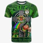 1stIreland Ireland T-Shirt - House of O'MOLLOY Crest Tee - Irish Shamrock with Claddagh Ring Cross A7