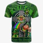1stIreland Ireland T-Shirt - Croke Crest Tee - Irish Shamrock with Claddagh Ring Cross A7