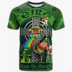 1stIreland Ireland T-Shirt - Tennent Crest Tee - Irish Shamrock with Claddagh Ring Cross A7