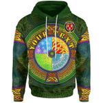 (Custom) 1stIreland Ireland Hoodie - House of RYAN (O'Mulrian) Irish Family Crest Hoodie - Celtic Element A7