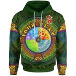 (Custom) 1stIreland Ireland Hoodie - Lydon or Leyden Irish Family Crest Hoodie - Celtic Element A7