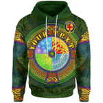 (Custom) 1stIreland Ireland Hoodie - House of BURKE Irish Family Crest Hoodie - Celtic Elements A7