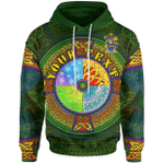 (Custom) 1stIreland Ireland Hoodie - Carrie or O'Carrie Irish Family Crest Hoodie - Celtic Elements A7