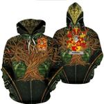 1stIreland Ireland Hoodie - Dorney or O'Dorney Irish Family Crest Hoodie - Tree Of Life A7