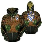 1stIreland Ireland Hoodie - Bernard Irish Family Crest Hoodie - Tree Of Life A7