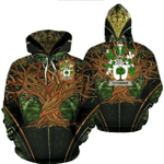 1stIreland Ireland Hoodie - Connor or O'Connor (Faly) Irish Family Crest Hoodie - Tree Of Life A7