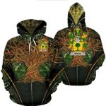 1stIreland Ireland Hoodie - Boyle or O'Boyle Irish Family Crest Hoodie - Tree Of Life A7