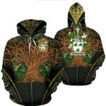 1stIreland Ireland Hoodie - Fitz-Allen Irish Family Crest Hoodie - Tree Of Life A7