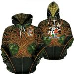 1stIreland Ireland Hoodie - Dancer Irish Family Crest Hoodie - Tree Of Life A7