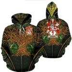 1stIreland Ireland Hoodie - Bergin or O'Bergin Irish Family Crest Hoodie - Tree Of Life A7