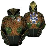 1stIreland Ireland Hoodie - Hodge Irish Family Crest Hoodie - Tree Of Life A7