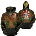 1stIreland Ireland Hoodie - Haffey Irish Family Crest Hoodie - Tree Of Life A7