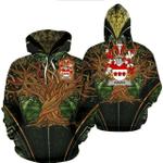 1stIreland Ireland Hoodie - Haugh or O'Hough Irish Family Crest Hoodie - Tree Of Life A7