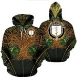 1stIreland Ireland Hoodie - House of O'DAVOREN Irish Family Crest Hoodie - Tree Of Life A7
