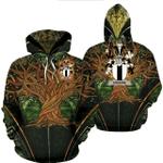 1stIreland Ireland Hoodie - Erskine Irish Family Crest Hoodie - Tree Of Life A7