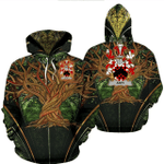 1stIreland Ireland Hoodie - Athy Irish Family Crest Hoodie - Tree Of Life A7
