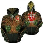 1stIreland Ireland Hoodie - Dempsey or O'Dempsey Irish Family Crest Hoodie - Tree Of Life A7