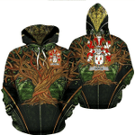 1stIreland Ireland Hoodie - Doyle or O'Doyle Irish Family Crest Hoodie - Tree Of Life A7