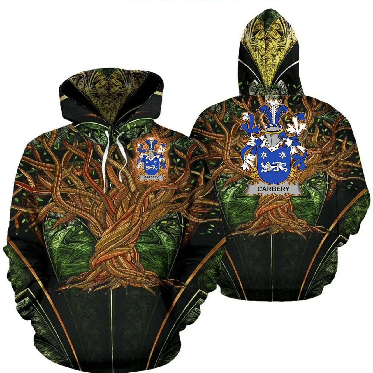 1stIreland Ireland Hoodie - Carbery Irish Family Crest Hoodie - Tree Of Life A7