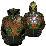 1stIreland Ireland Hoodie - Chaloner Irish Family Crest Hoodie - Tree Of Life A7