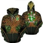 1stIreland Ireland Hoodie - Heaton Irish Family Crest Hoodie - Tree Of Life A7