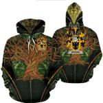 1stIreland Ireland Hoodie - Browne Irish Family Crest Hoodie - Tree Of Life A7