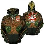 1stIreland Ireland Hoodie - Bradley Irish Family Crest Hoodie - Tree Of Life A7