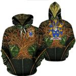 1stIreland Ireland Hoodie - Greene Irish Family Crest Hoodie - Tree Of Life A7