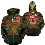 1stIreland Ireland Hoodie - Galvin or O'Galvin Irish Family Crest Hoodie - Tree Of Life A7