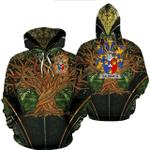 1stIreland Ireland Hoodie - Galbraith Irish Family Crest Hoodie - Tree Of Life A7