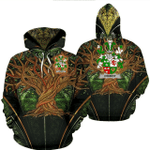 1stIreland Ireland Hoodie - Conroy or O'Conry Irish Family Crest Hoodie - Tree Of Life A7