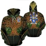 1stIreland Ireland Hoodie - Flynn or O'Flynn Irish Family Crest Hoodie - Tree Of Life A7