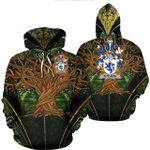 1stIreland Ireland Hoodie - Fitz-Rith Irish Family Crest Hoodie - Tree Of Life A7