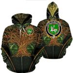 1stIreland Ireland Hoodie - House of MACGUIRE Irish Family Crest Hoodie - Tree Of Life A7