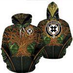 1stIreland Ireland Hoodie - House of O'CONNOLLY Irish Family Crest Hoodie - Tree Of Life A7
