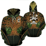 1stIreland Ireland Hoodie - Cowley or Cooley Irish Family Crest Hoodie - Tree Of Life A7