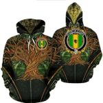 1stIreland Ireland Hoodie - House of O'HARA Irish Family Crest Hoodie - Tree Of Life A7
