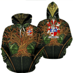 1stIreland Ireland Hoodie - Henry or O'Henry Irish Family Crest Hoodie - Tree Of Life A7