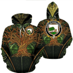 1stIreland Ireland Hoodie - House of O'CALLAGHAN Irish Family Crest Hoodie - Tree Of Life A7
