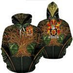 1stIreland Ireland Hoodie - Alister or McAlister Irish Family Crest Hoodie - Tree Of Life A7