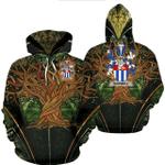 1stIreland Ireland Hoodie - Bagwell Irish Family Crest Hoodie - Tree Of Life A7