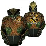 1stIreland Ireland Hoodie - Gillson Irish Family Crest Hoodie - Tree Of Life A7