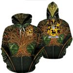 1stIreland Ireland Hoodie - Ewers Irish Family Crest Hoodie - Tree Of Life A7