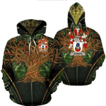 1stIreland Ireland Hoodie - Harmon Irish Family Crest Hoodie - Tree Of Life A7