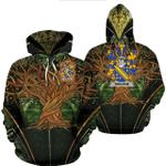 1stIreland Ireland Hoodie - Bingham Irish Family Crest Hoodie - Tree Of Life A7