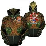 1stIreland Ireland Hoodie - Carpenter Irish Family Crest Hoodie - Tree Of Life A7