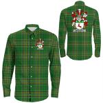 1stIreland Ireland Shirt - McDevitt Irish Crest Long Sleeve Button Shirt A7