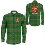 1stIreland Ireland Shirt - Scully or O'Scully Irish Crest Long Sleeve Button Shirt A7