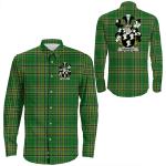 1stIreland Ireland Shirt - Kennedy or O'Kennedy Irish Crest Long Sleeve Button Shirt A7